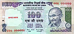 Image : Rupees One Hundred